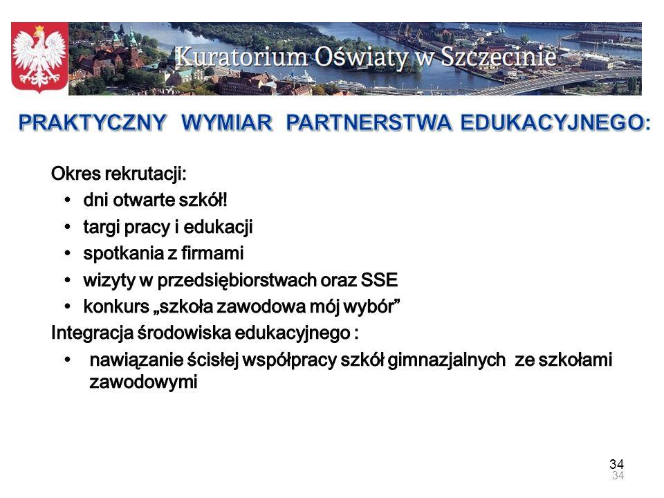 35 Medialna akcja informacyjno – promocyjna dotycząca oferty edukacyjnej szkół zawodowych województwa zachodniopomorskiego Partner – KURIER SZCZECIŃSKI 35