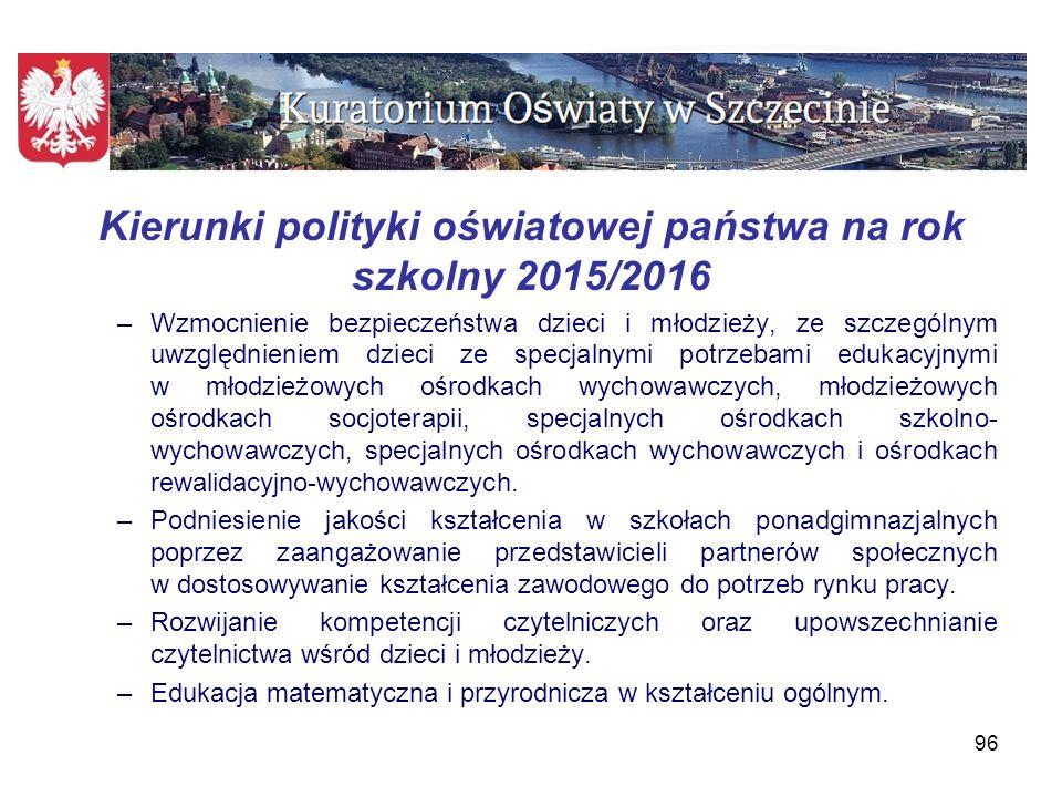 Plan nadzoru pedagogicznego Zachodniopomorskiego Kuratora Oświaty Planowana liczba ewaluacji – 238 Planowana liczba kontroli planowych – 150 Planowane kontrole doraźne Planowany udział w radach pedagogicznych 97