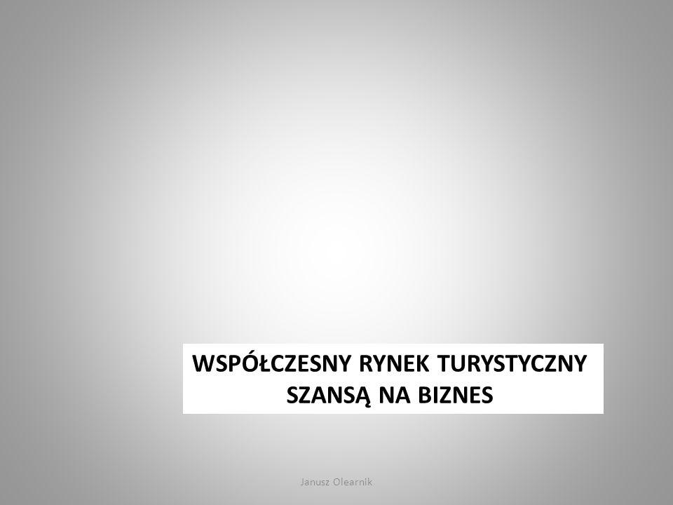 WSPÓŁCZESNY RYNEK TURYSTYCZNY SZANSĄ NA BIZNES Janusz Olearnik