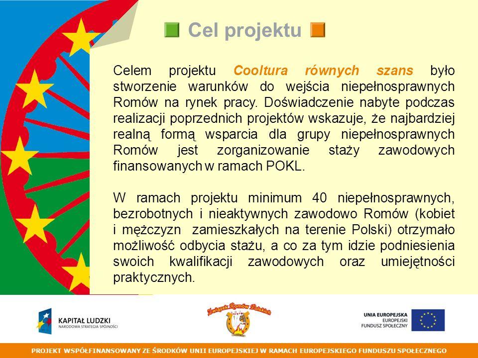 Celem projektu Cooltura równych szans było stworzenie warunków do wejścia niepełnosprawnych Romów na rynek pracy.