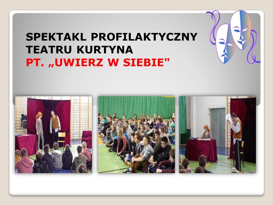 """SPEKTAKL PROFILAKTYCZNY TEATRU KURTYNA PT. """"UWIERZ W SIEBIE"""