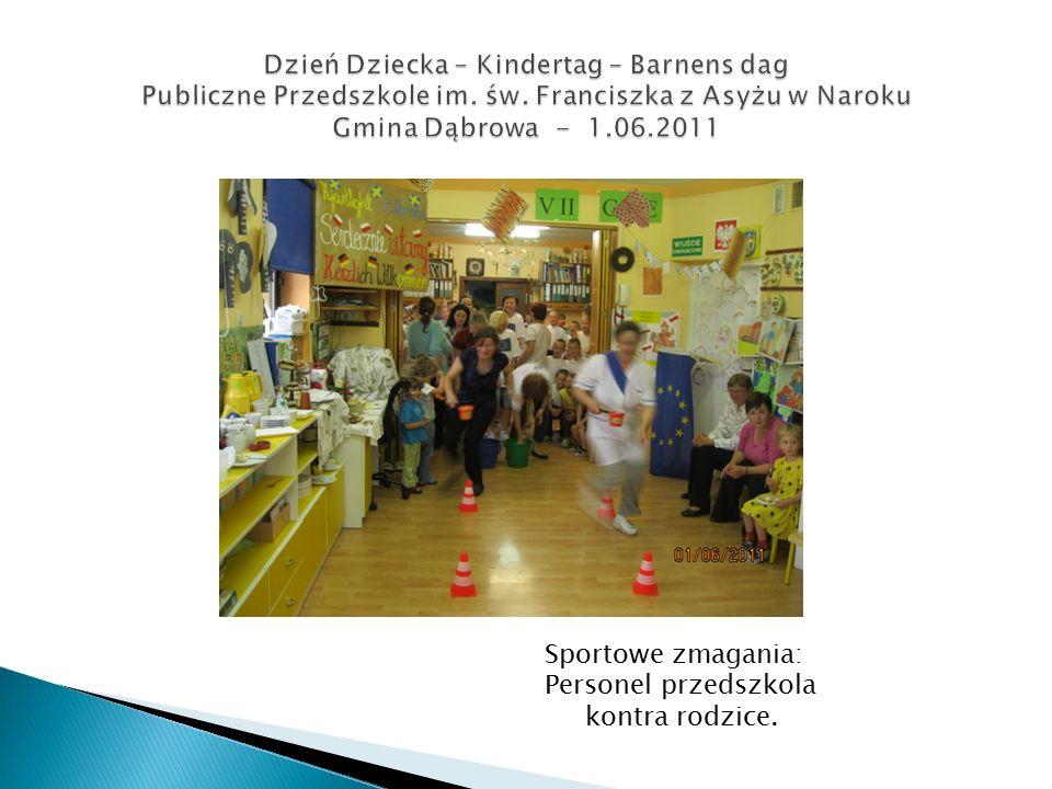 Sportowe zmagania: Personel przedszkola kontra rodzice.