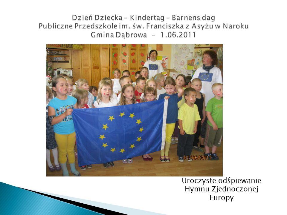 Uroczyste odśpiewanie Hymnu Zjednoczonej Europy