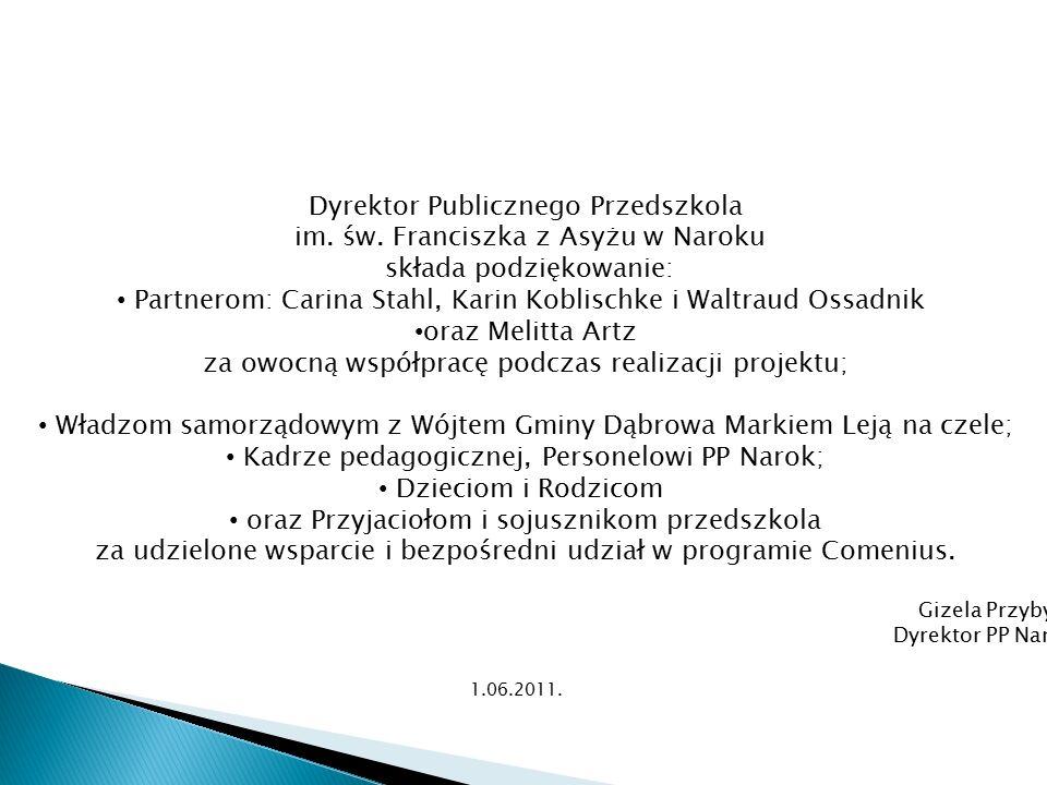 Dyrektor Publicznego Przedszkola im. św.