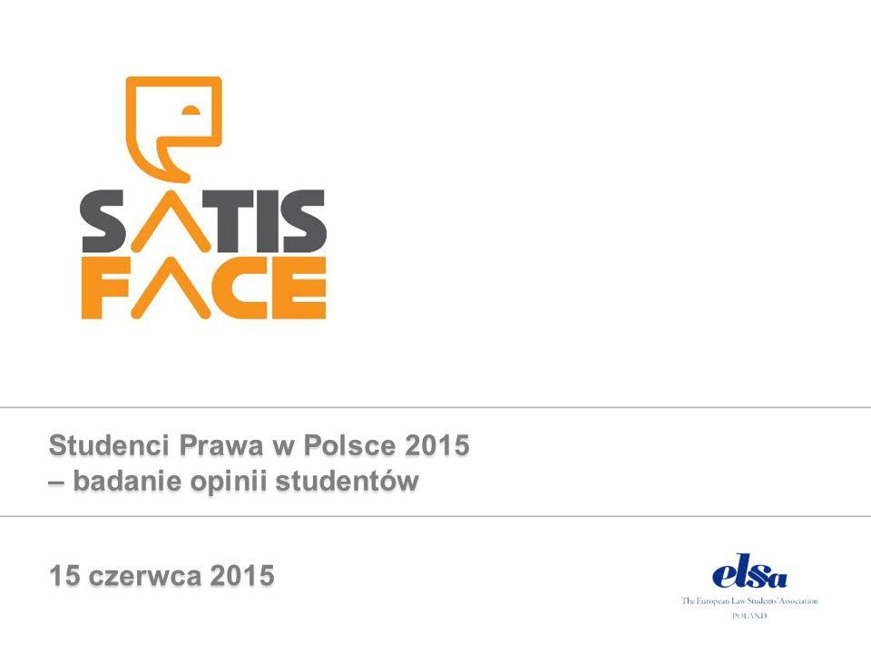Studenci Prawa w Polsce 2015 – badanie opinii studentów 15 czerwca 2015