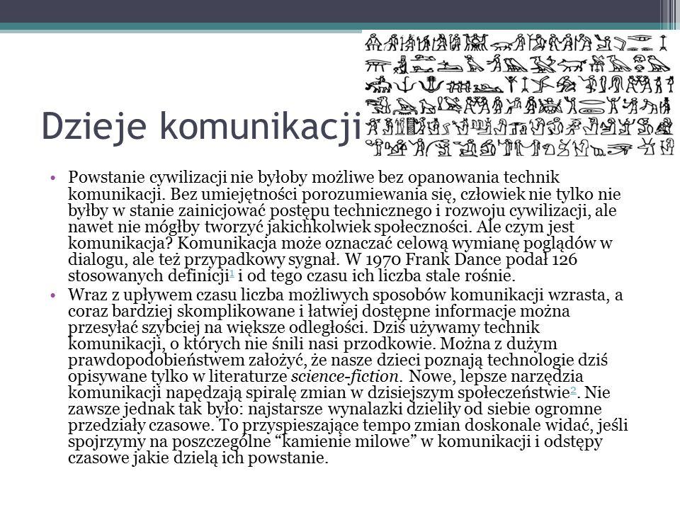 Komunikacja dawniej - przez posłańców - rozsyłanie wici - sygnały dymne - sygnalizacje świetlne latarni morskich - pismo