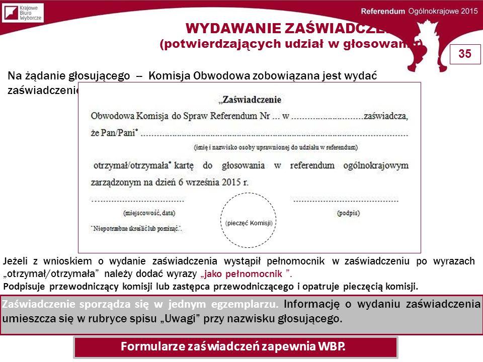 Komisjanabieżącosprawdzaliczbępodpisówwspisie potwierdzających otrzymanie karty przez głosujących.