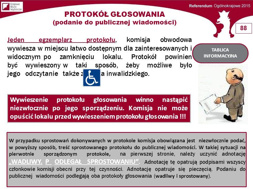 W przypadku sprostowań dokonywanych w protokole komisja obowiązana jest niezwłocznie podać, w powyższy sposób, treść sprostowanego protokołu do public