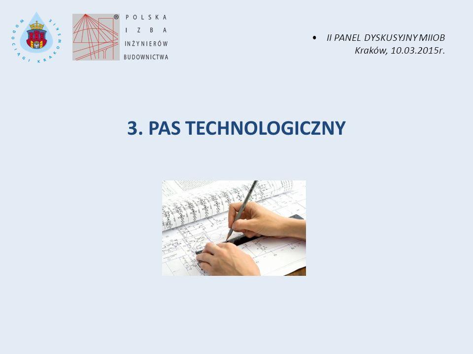 II PANEL DYSKUSYJNY MIIOB Kraków, 10.03.2015r. 3. PAS TECHNOLOGICZNY