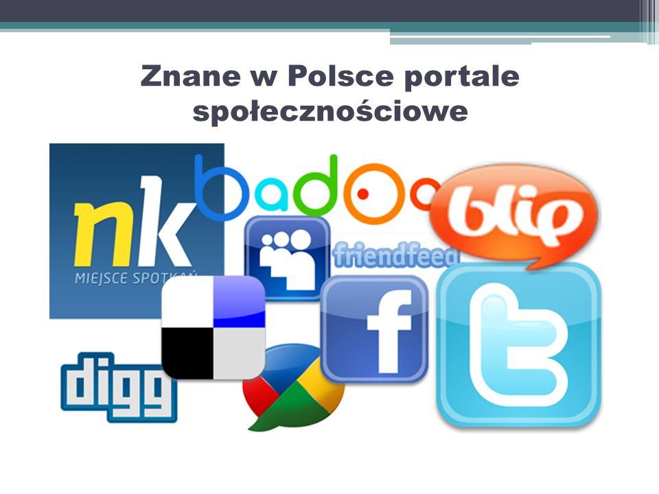 Portale Społecznościowe Portale społecznościowe to hit obecnych generacji młodzieży. W jednym miejscu mamy do dyspozycji komunikator, forum, album fot