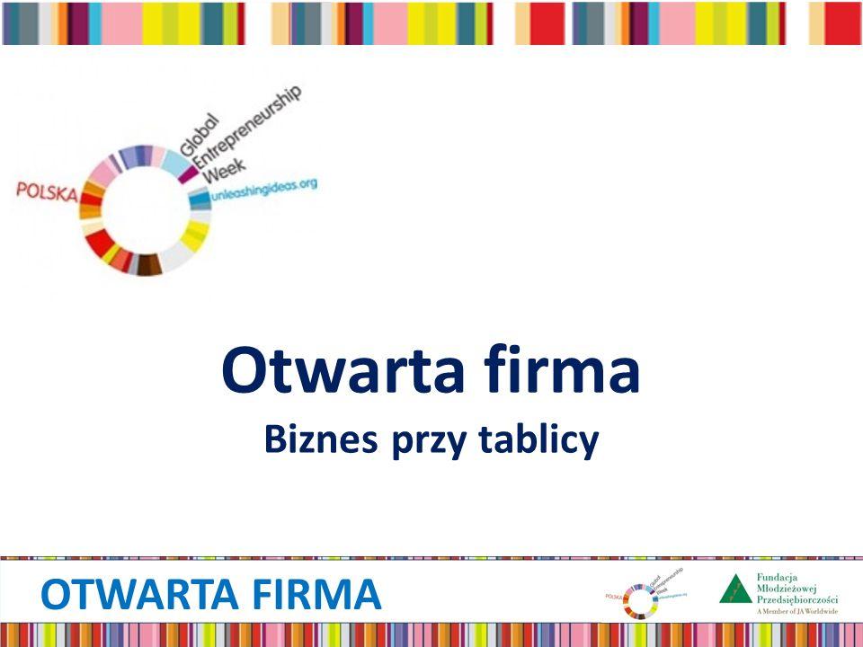 OTWARTA FIRMA Otwarta firma Biznes przy tablicy