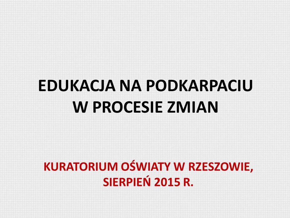 EDUKACJA NA PODKARPACIU W PROCESIE ZMIAN KURATORIUM OŚWIATY W RZESZOWIE, SIERPIEŃ 2015 R.