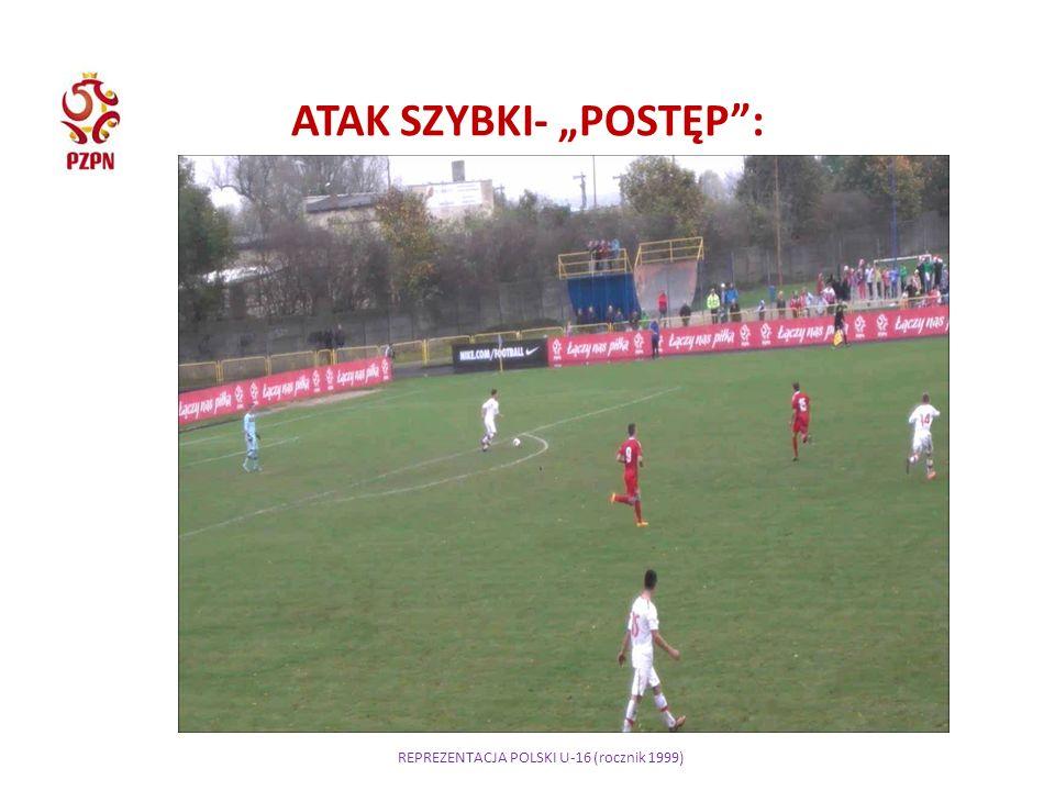 """REPREZENTACJA POLSKI U-16 (rocznik 1999) ATAK SZYBKI- """"POSTĘP :"""