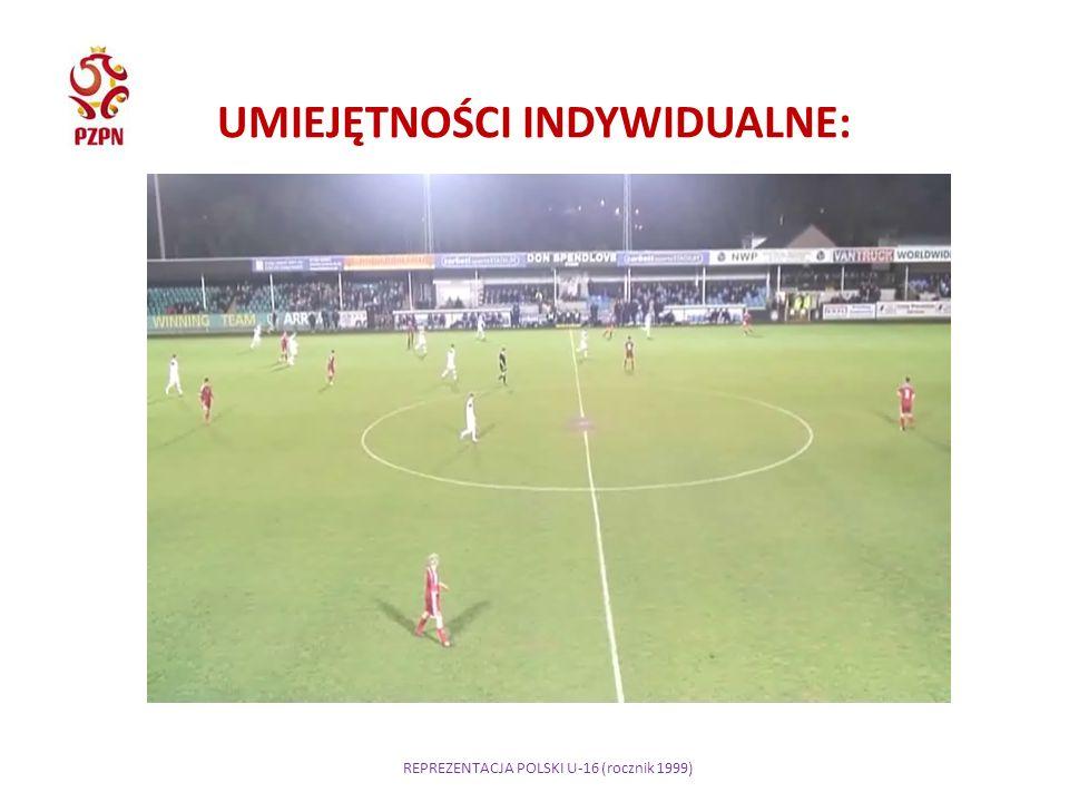 REPREZENTACJA POLSKI U-16 (rocznik 1999) UMIEJĘTNOŚCI INDYWIDUALNE: