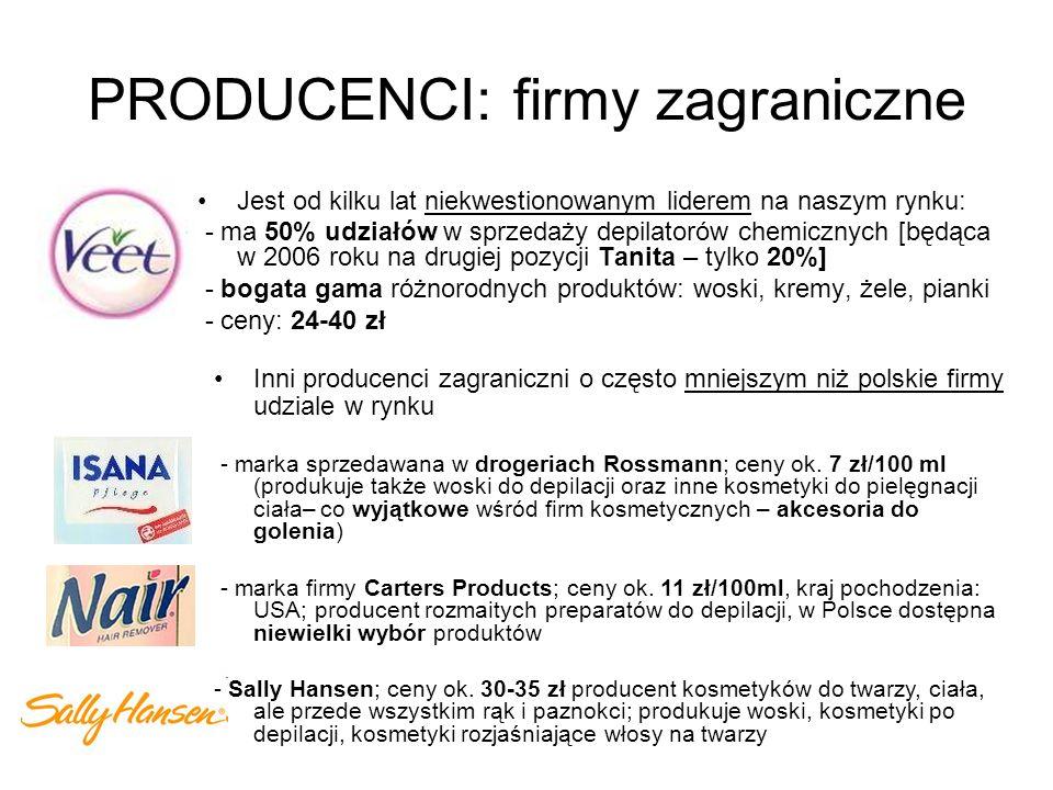 PRODUCENCI: firmy polskie Producent kosmetyków naturalnych; produkuje także mleczko po depilacji Cena: ok.