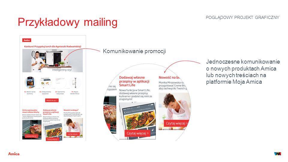 Przykładowy mailing Komunikowanie promocji Jednoczesne komunikowanie o nowych produktach Amica lub nowych treściach na platformie Moja Amica POGLĄDOWY