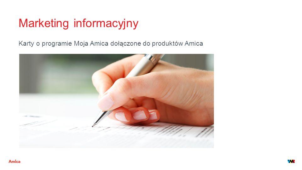 Marketing informacyjny Karty o programie Moja Amica dołączone do produktów Amica