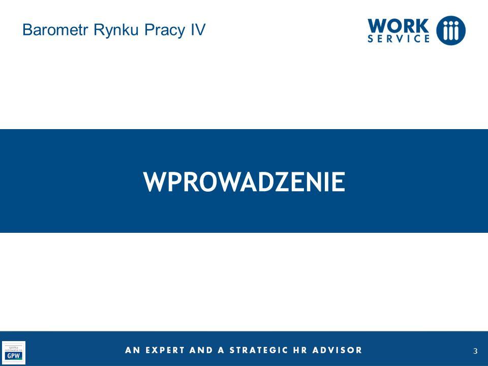14 Regionalny Barometr Rynku Najtrudniej we wschodniej Polsce Tylko 14% pracowników z dolnośląskiego i opolskiego zamierza szukać nowego miejsca zatrudnienia Aż 25% pracowników z lubelskiego, podkarpackiego, świętokrzyskiego i podlaskiego planuje zmienić pracę