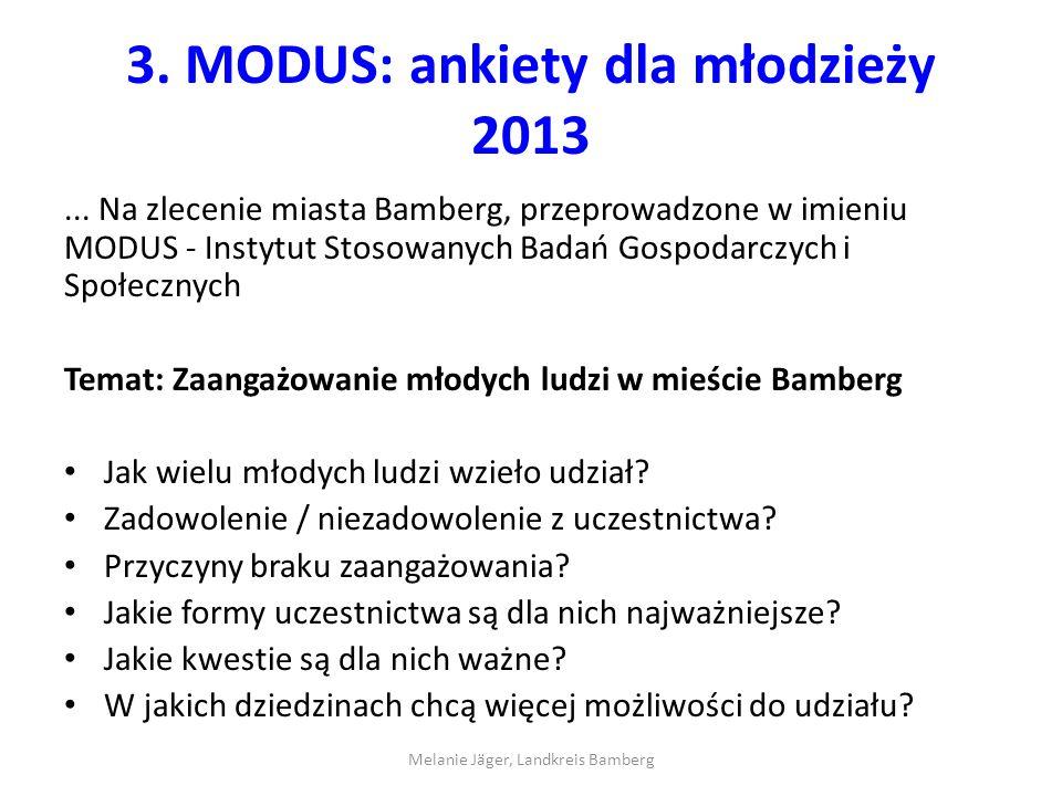 3. MODUS: ankiety dla młodzieży 2013...