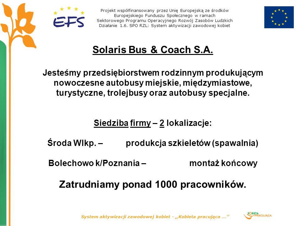 System aktywizacji zawodowej kobiet -,,Kobieta pracująca...'' Solaris Bus & Coach S.A.
