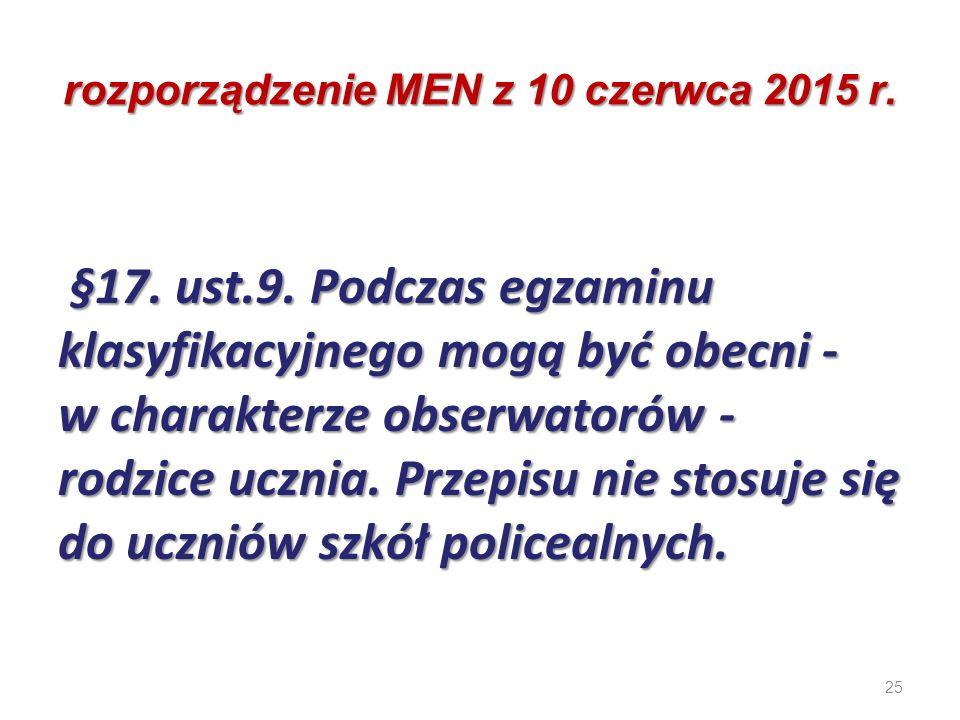 25 rozporządzenie MEN z 10 czerwca 2015 r. §17. ust.9. Podczas egzaminu klasyfikacyjnego mogą być obecni - w charakterze obserwatorów - rodzice ucznia