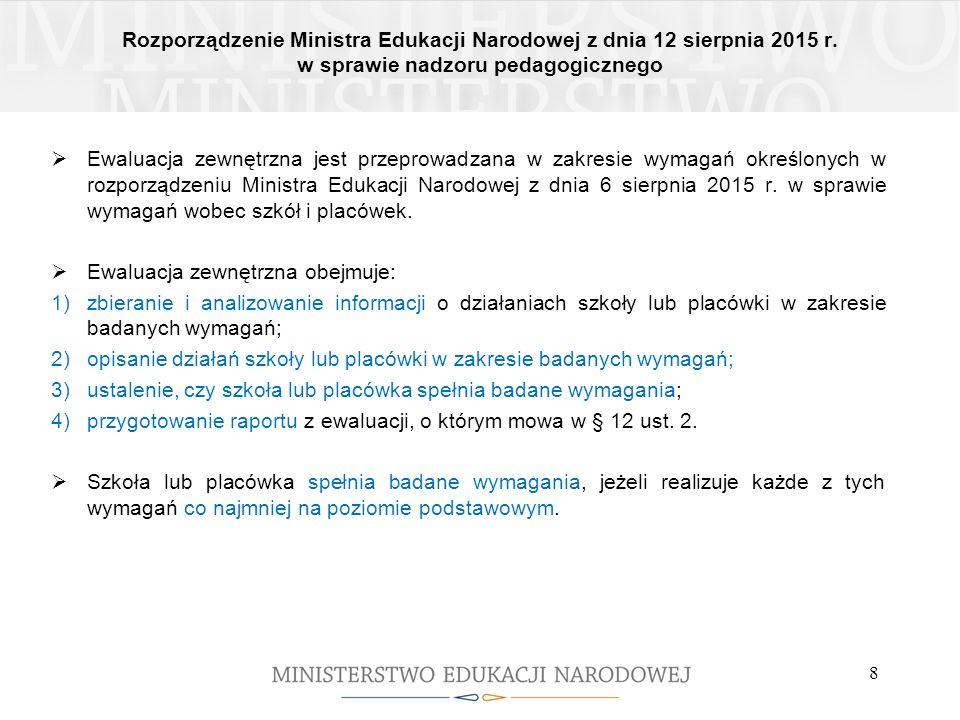 Rozporządzenie Ministra Edukacji Narodowej z dnia 12 sierpnia 2015 r.