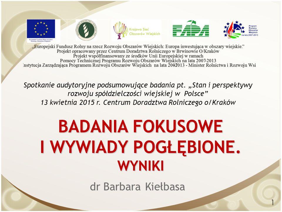 BADANIA FOKUSOWE I WYWIADY POGŁĘBIONE.