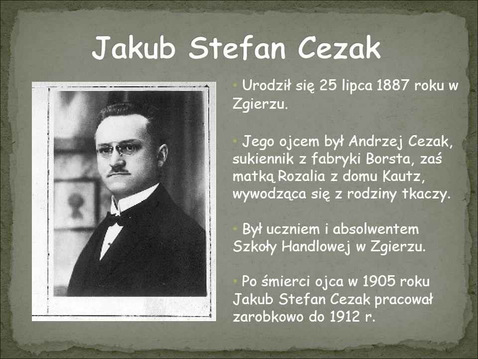 W 1912 roku został studentem Politechniki Warszawskiej na Wydziale Chemii.