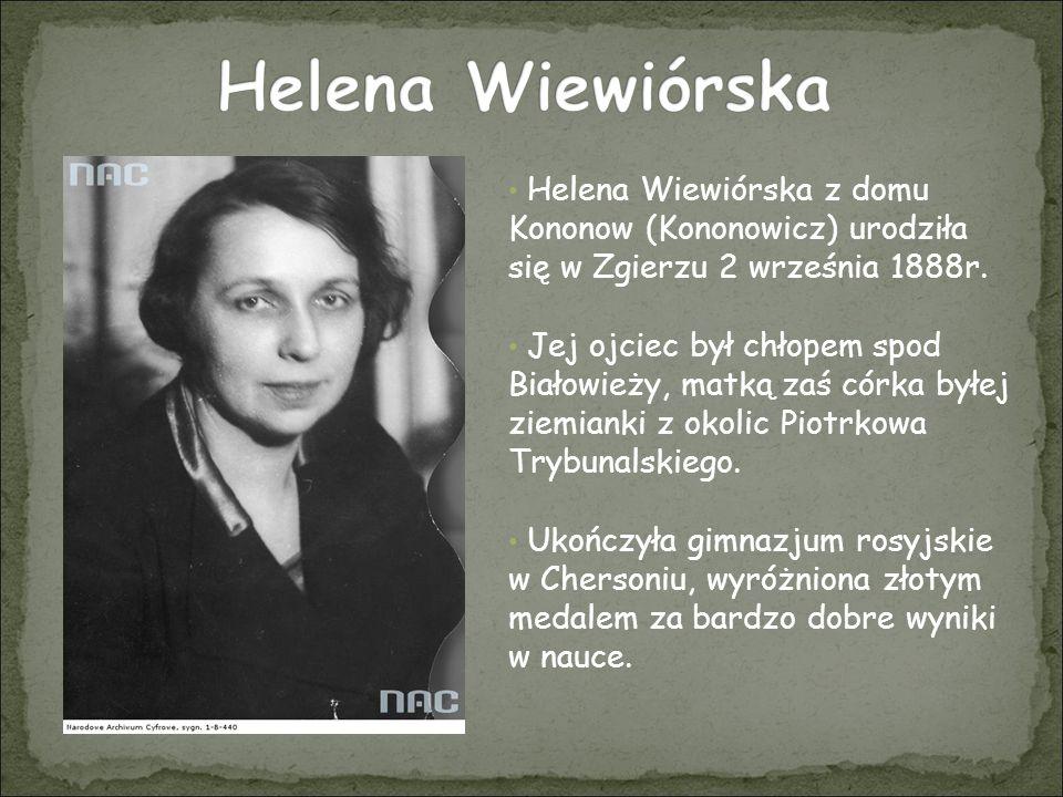 Następnie skończyła 4-letnią szkołę żeńską w Petersburgu Ukończyła studia prawnicze z wyróżnieniem.