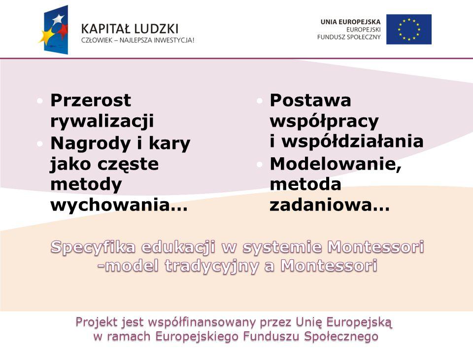 Projekt jest współfinansowany przez Unię Europejską w ramach Europejskiego Funduszu Społecznego Przerost rywalizacji Nagrody i kary jako częste metody