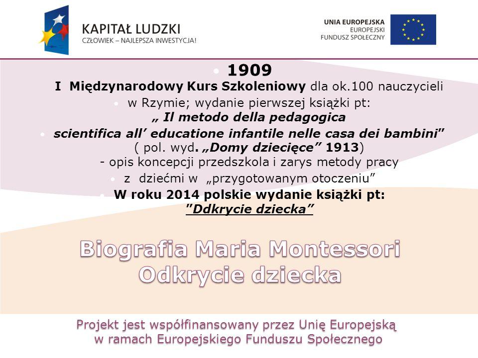 Projekt jest współfinansowany przez Unię Europejską w ramach Europejskiego Funduszu Społecznego 1909 I Międzynarodowy Kurs Szkoleniowy dla ok.100 nauc