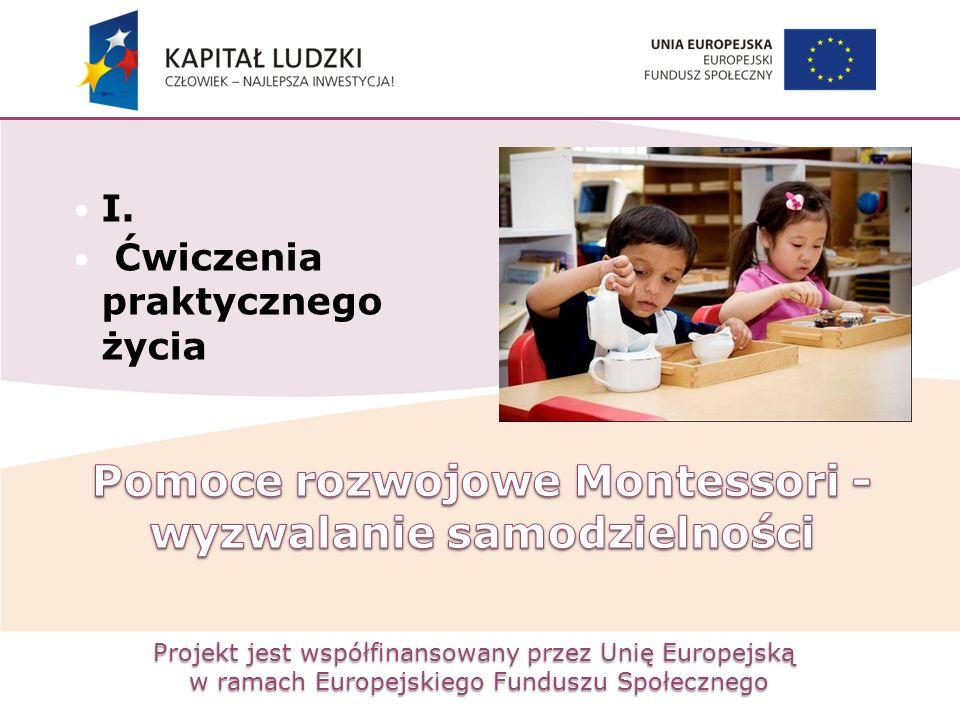 Projekt jest współfinansowany przez Unię Europejską w ramach Europejskiego Funduszu Społecznego I. Ćwiczenia praktycznego życia