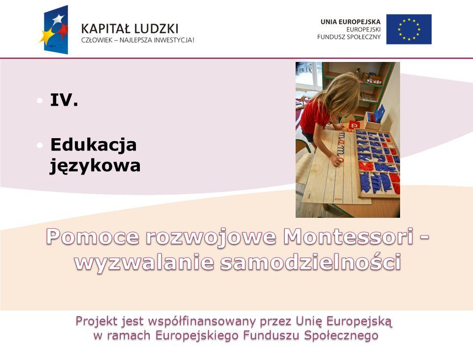 Projekt jest współfinansowany przez Unię Europejską w ramach Europejskiego Funduszu Społecznego IV. Edukacja językowa