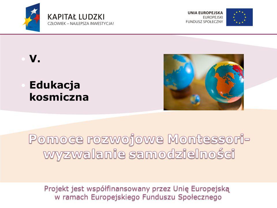Projekt jest współfinansowany przez Unię Europejską w ramach Europejskiego Funduszu Społecznego V. Edukacja kosmiczna