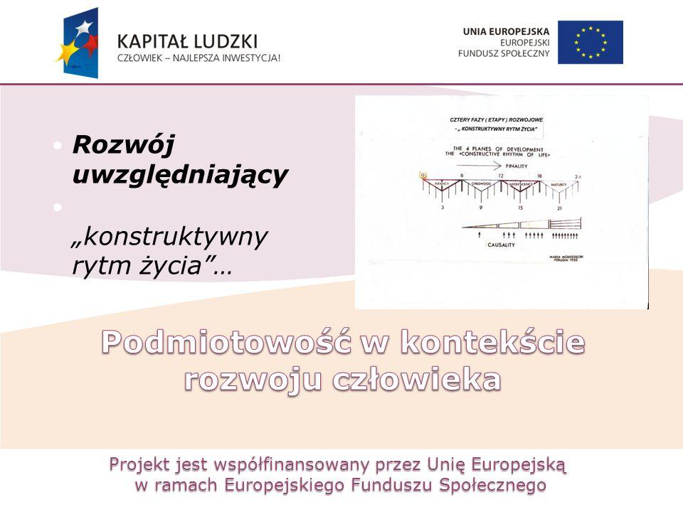"""Projekt jest współfinansowany przez Unię Europejską w ramach Europejskiego Funduszu Społecznego Rozwój uwzględniający """"konstruktywny rytm życia""""…"""