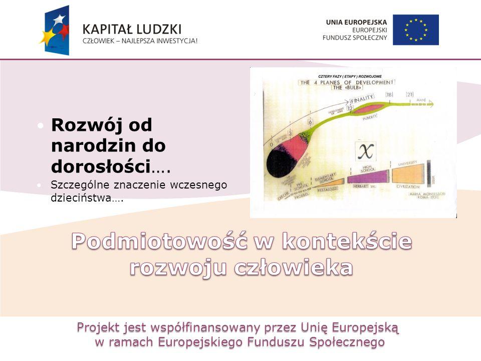 Projekt jest współfinansowany przez Unię Europejską w ramach Europejskiego Funduszu Społecznego Rozwój od narodzin do dorosłości…. Szczególne znaczeni
