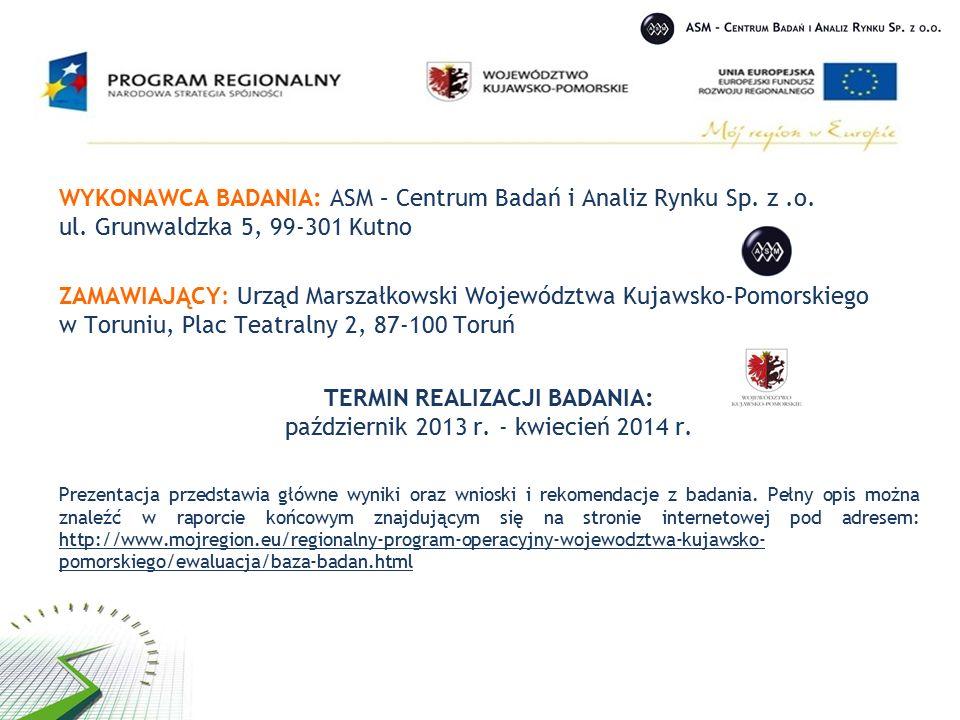 WYKONAWCA BADANIA: ASM – Centrum Badań i Analiz Rynku Sp.