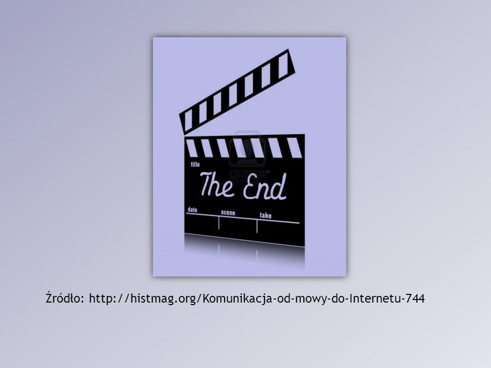 Źródło: http://histmag.org/Komunikacja-od-mowy-do-Internetu-744