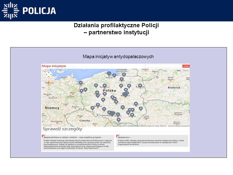 Działania profilaktyczne Policji – partnerstwo instytucji Mapa inicjatyw antydopalaczowych