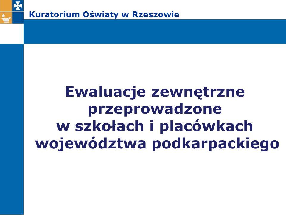 Kuratorium Oświaty w Rzeszowie Podstawą prawną realizacji zadań nadzoru pedagogicznego w formie ewaluacji jest § 7 ust.