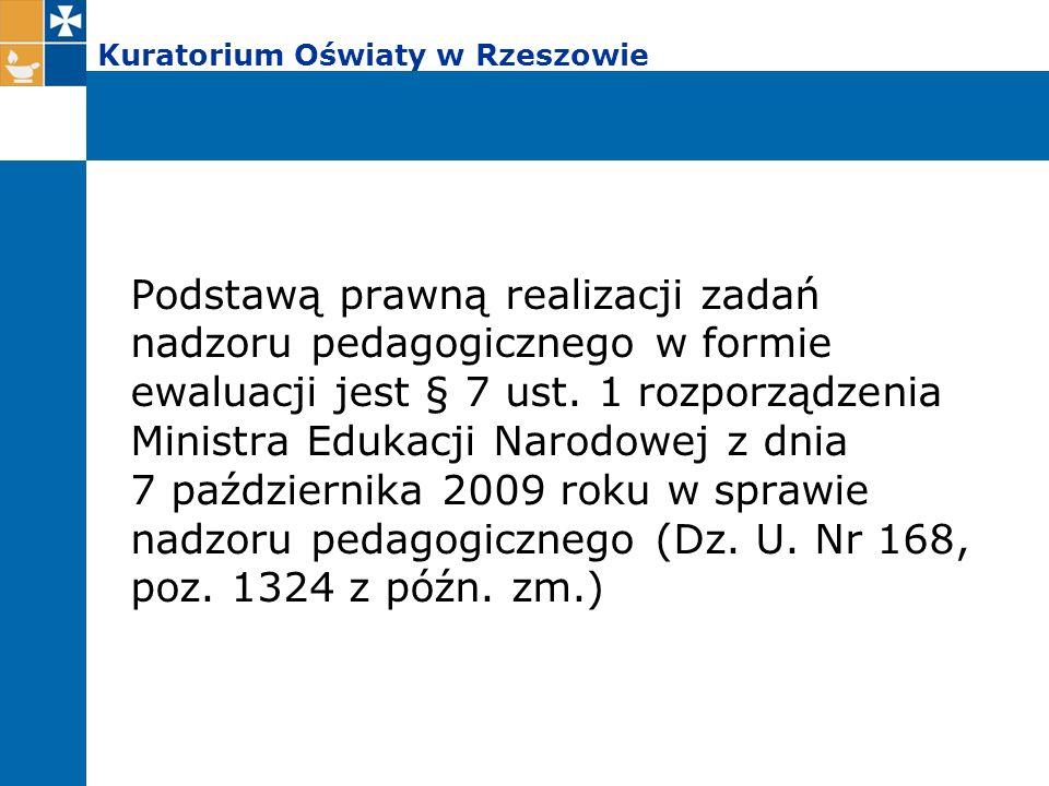 Kontrole planowe i doraźne przeprowadzone w szkołach i placówkach województwa podkarpackiego