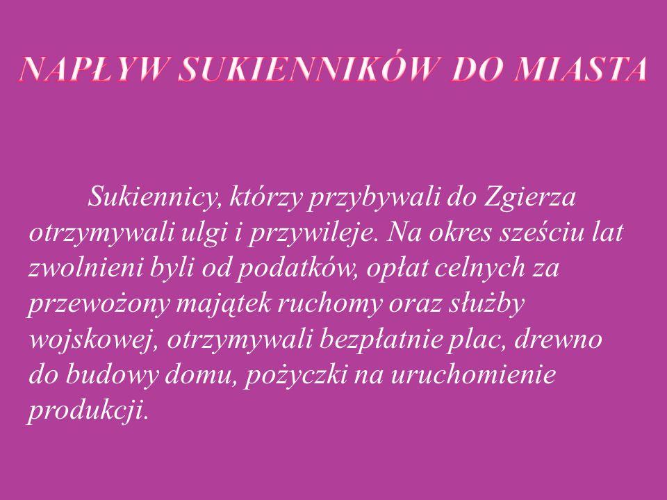 Do Zgierza przybywali osadnicy z Prus i Księstwa Poznańskiego, Polacy z rejonu Małopolski, pojawiali się również Rosjanie, a w późniejszym okresie Żydzi.