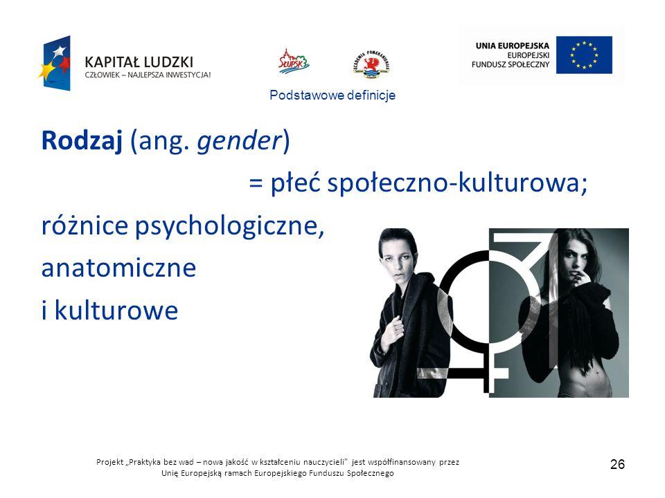 """Projekt """"Praktyka bez wad – nowa jakość w kształceniu nauczycieli jest współfinansowany przez Unię Europejską ramach Europejskiego Funduszu Społecznego 26 Podstawowe definicje Rodzaj (ang."""