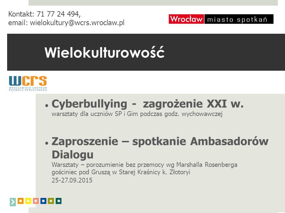 Wielokulturowość Cyberbullying - zagrożenie XXI w.