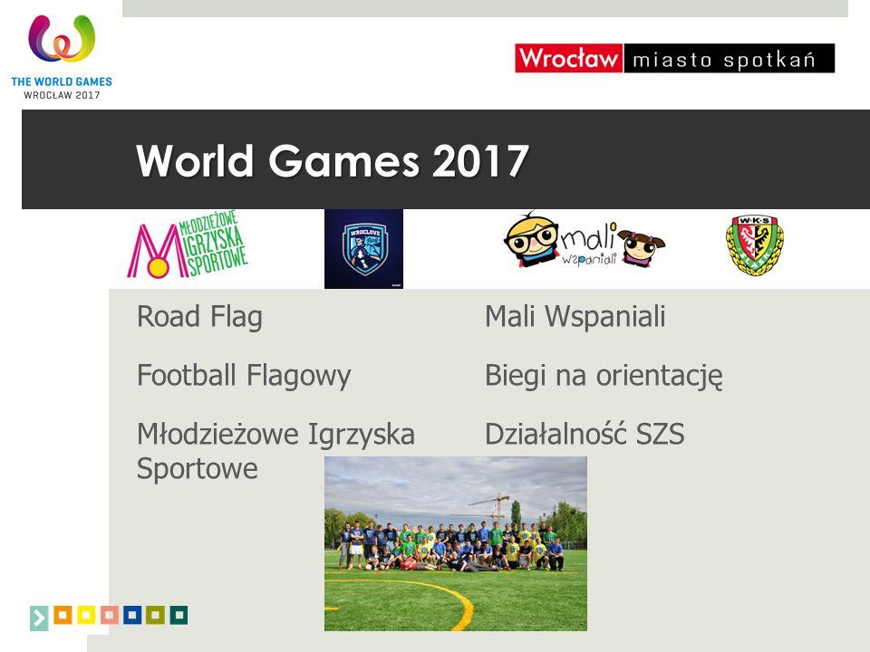 Road FlagMali Wspaniali Football FlagowyBiegi na orientację Młodzieżowe Igrzyska Działalność SZS Sportowe World Games 2017