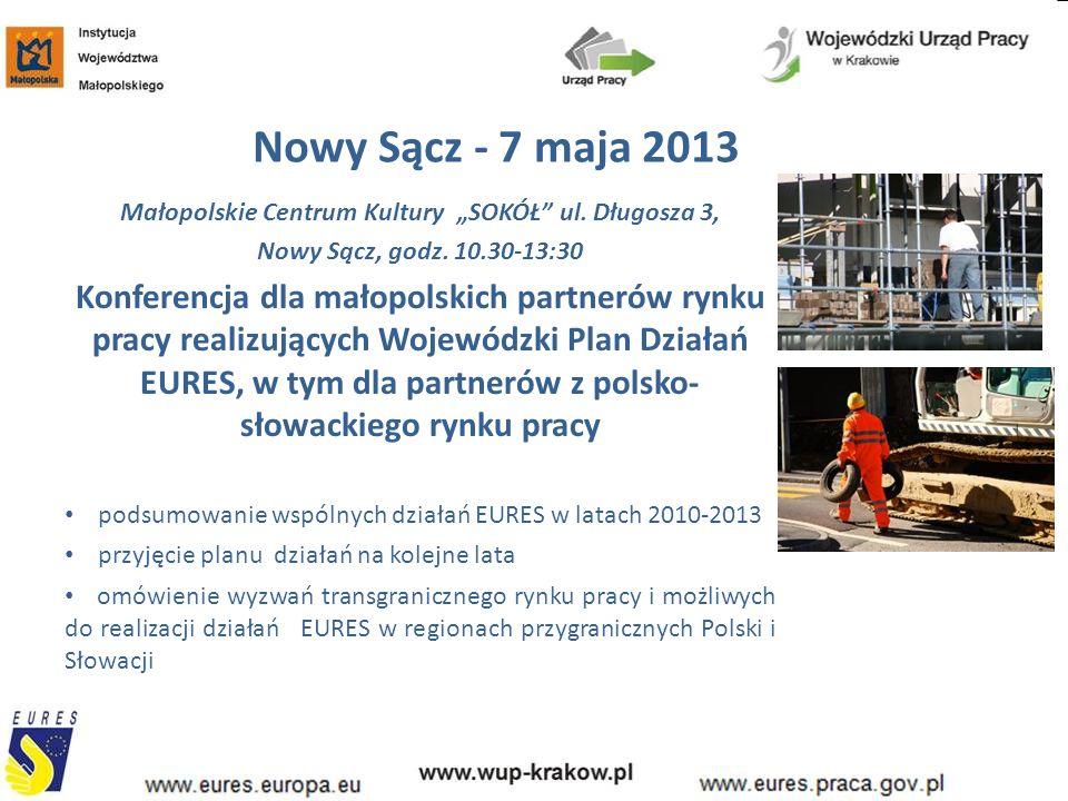 """Nowy Sącz- 7 maja 2013 Małopolskie Centrum Kultury """"SOKÓŁ ul."""