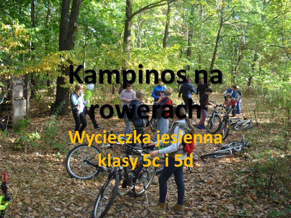 Kampinos na rowerach Wycieczka jesienna klasy 5c i 5d