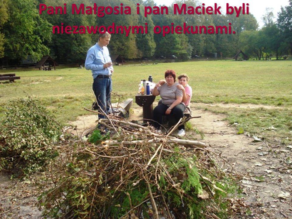 Pani Małgosia i pan Maciek byli niezawodnymi opiekunami.