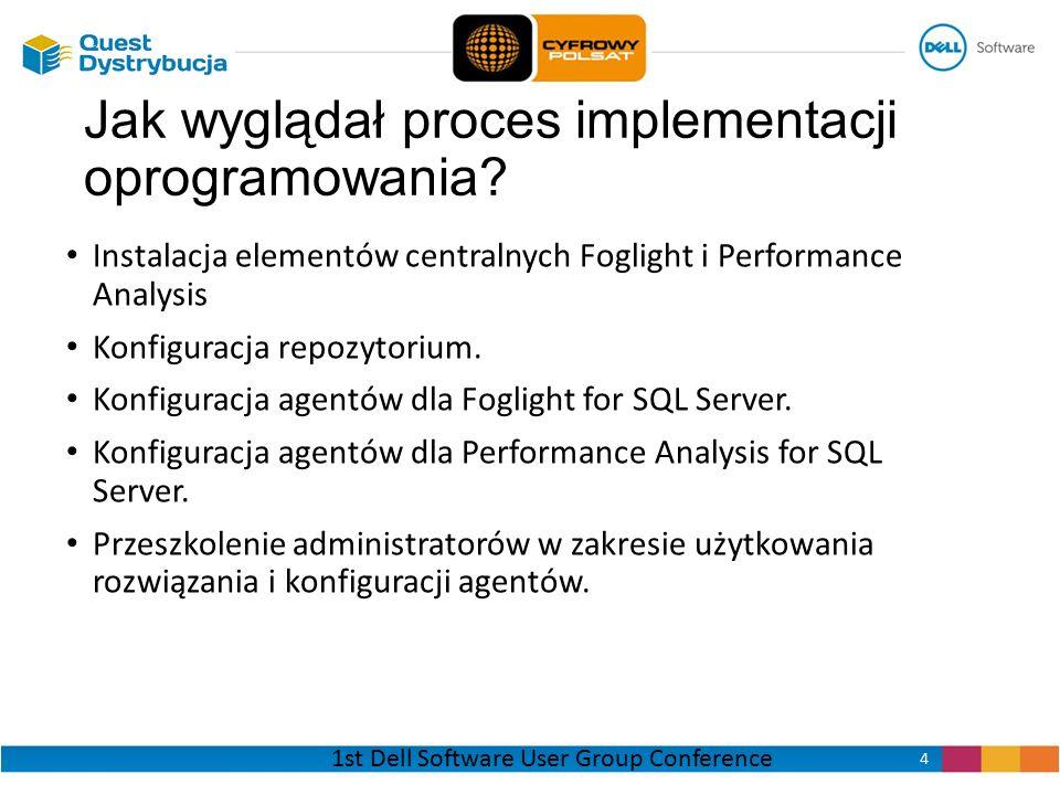 Instalacja elementów centralnych Foglight i Performance Analysis Konfiguracja repozytorium. Konfiguracja agentów dla Foglight for SQL Server. Konfigur