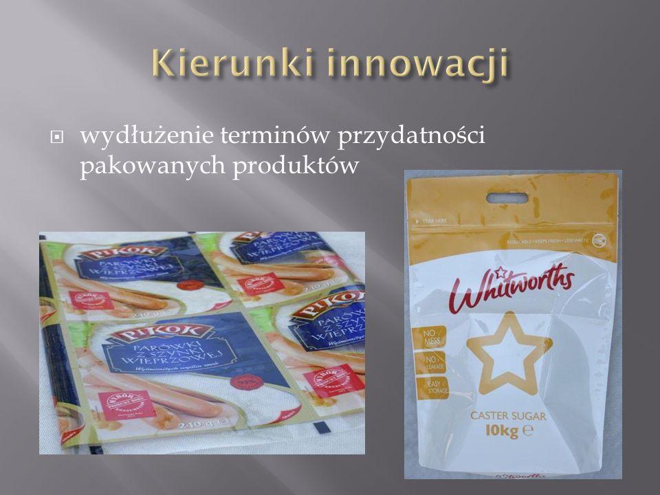  wydłużenie terminów przydatności pakowanych produktów